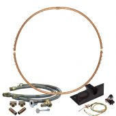 Warming Trends Crossfire Spark Ignition Full-Circle Brass Gas Fire Pit Burner Kits