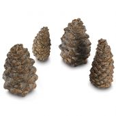 Real Fyre PC-4 Designer Pine Cones, Set of Four