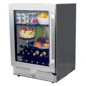 Modern Home Products PFFRIG24 Stainless Steel Outdoor-Rated Refrigerator, 24-Inch