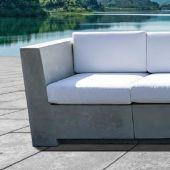 Prism Hardscapes PHDIVE Divano Concrete End Chair Section, 31.875-Inch