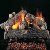 Rasmussen DF-PR-Kit Double Sided Prestige Oak Series Complete Outdoor Fireplace Log Set