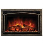Modern Flames PTO-ZCR2-BC Hammered Burnished Bronze Premium Magnetic Trim Overlay for ZCR2 Electric Fireplace Insert