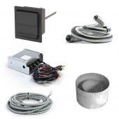 Kingsman PVH58-5x8-FLEX Horizontal 5x8-Inch Power Vent Starter Kit with Flexible Pipe
