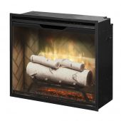Dimplex RBF24DLX-INS Revillusion Electric Fireplace Insert with Herringbone Backer, 24-Inches