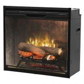 Dimplex RBF24DLXWC-INS Revillusion Electric Fireplace Insert with Weathered Concrete Backer, 24-Inches