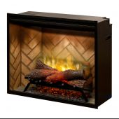 Dimplex RBF30-INS Revillusion Electric Fireplace Insert with Herringbone Backer, 30-Inches