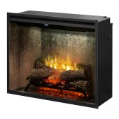 Dimplex RBF30WC-INS Revillusion Electric Fireplace Insert with Weathered Concrete Backer, 30-Inches