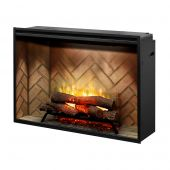 Dimplex RBF42 Revillusion Electric Fireplace with Herringbone Backer, 42-Inches