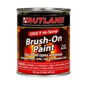 Rutland RD-81 1200 Degree F Brush On High Temp Paint, 16 fl oz