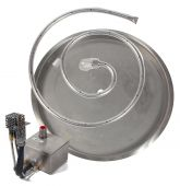 Fire by Design MGRDIBP-2 Electronic Ignition Gas Fire Pit Burner Kit with Round Drop-In Pan