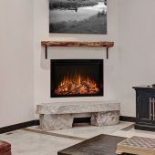 Modern Flames LPM-8016 Landscape Series Pro MultiView 3-Sided Wall Mount/Built-In Electric Fireplace, 80-Inch