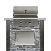 Coyote Ready-To-Assemble 4-Foot Outdoor Kitchen Island with 28-Inch C-Series Gas Grill & Access Door (RTAC-G4)