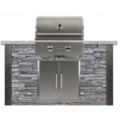 Coyote Ready-To-Assemble 5-Foot Outdoor Kitchen Island with 28-Inch C-Series Gas Grill & Access Doors (RTAC-G5)