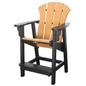 Pawleys Island SRCC1BLKCD Sunrise Counter Height Chair, Black/Cedar