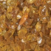 "Grand Effects FGLC Standard 1/2""-3/4"" Chestnut Fire Glass, 25 lbs"
