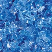"Grand Effects FGLOB Standard 1/2""-3/4"" Ocean Blue Fire Glass, 25 lbs"