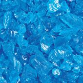 "Grand Effects FGLT Standard 1/2""-3/4"" Turquoise Blue Fire Glass, 25 lbs"