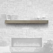 GreatCo GCVMT-72 Cove Grey Finish Supercast Wood Mantel, 72-Inch