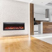Amantii SYM-50-BESPOKE Symmetry Series Bespoke 50-Inch Built-In Electric Fireplace with Remote & Media