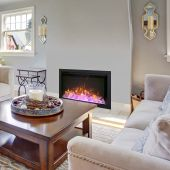 Amantii TRD-BESPOKE-Config Traditional Series Bespoke Indoor/Outdoor Electric Fireplace Insert with Remote & Media