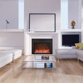 Amantii TRD-38-TRD-26-3 Traditional Series Electric Fireplace Insert with 3-Sided Surround, 38-Inch