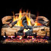 Real Fyre ENS Charred Evergreen Split Oak Vented Gas Log Set, Stainless Steel, ANSI Certified