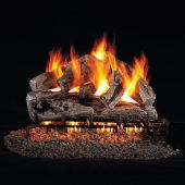 Real Fyre RRO Rugged Oak Stainless Steel Vented Gas Log Set, ANSI Certified