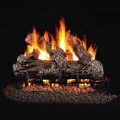 Real Fyre HR Rustic Oak Stainless Steel Vented Gas Log Set, ANSI Certified