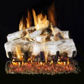 Real Fyre MBW Mountain Birch Stainless Steel Vented Gas Log Set, See-Thru, ANSI Certified