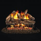 Real Fyre RED Red Oak Stainless Steel Vented Gas Log Set, ANSI Certified