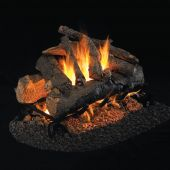 Real Fyre AO American Oak Stainless Steel Vented Gas Log Set, See-Thru, ANSI Certified