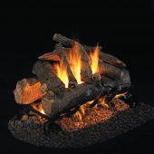 Real Fyre CHAO Charred American Oak Stainless Steel Vented Gas Log Set, See-Thru, ANSI Certified
