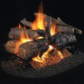 Real Fyre Charred American Oak Vented Gas Log Set