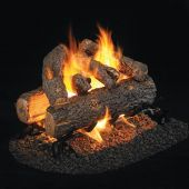 Real Fyre RDP Golden Oak Designer Plus Stainless Steel Vented Gas Log Set, See-Thru, ANSI Certified