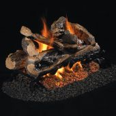 Real Fyre RRSO Rugged Split Oak Stainless Steel Vented Gas Log Set, See-Thru, ANSI Certified