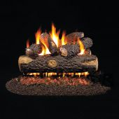 Real Fyre WO Woodland Oak Stainless Steel Vented Gas Log Set, ANSI Certified