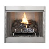 Superior 42-Inch Vent-Free Outdoor Gas Firebox with Vent-Free Gas Log Set (VRE4242)