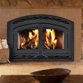 Superior Catalytic Combustion Wood Burning Fireplace, Double Black Steel Doors (WCT6940WS)