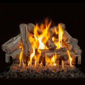 Grand Canyon Western Driftwood Vented Gas Log Set with Stainless Steel Burner