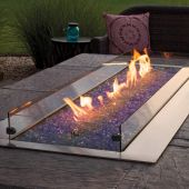 Empire WG604LT Carol Rose Coastal Collection 60-Inch Glass Wind Guard for Linear Fire Pits