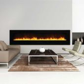 Amantii Wall Mount / Flush Mount Series Electric Fireplace with Ember Media Kit, 100 Inch