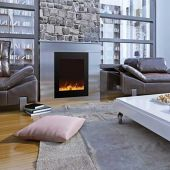 Amantii Zero Clearance Series Built-In Electric Fireplace with Ember Media Kit, 25 Inch