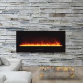 Amantii Wall Mount / Built-In Electric Fireplace with Ember Media Kit, 50 Inch