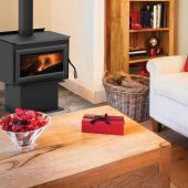 Superior Freestanding Wood Burning Stove, Cast Iron Door (WXS2021WS-B)