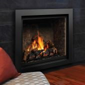 Kingsman ZCV42H 42-Inch High Capacity Zero Clearance Clean View Direct Vent Gas Fireplace with Media