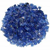 American Fireglass 10-Pound Premium Fire Glass, 1/2 Inch, Cobalt Blue Reflective