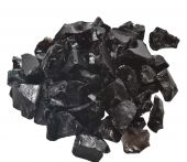 Dagan DG-GLL-BLACK 1/2 - 3/4-Inch Fire Glass, 10, Black