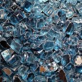 Hearth Products Controls 1/4 Inch Decorative Fire Glass, 10 Pounds, Pacific Blue Reflective