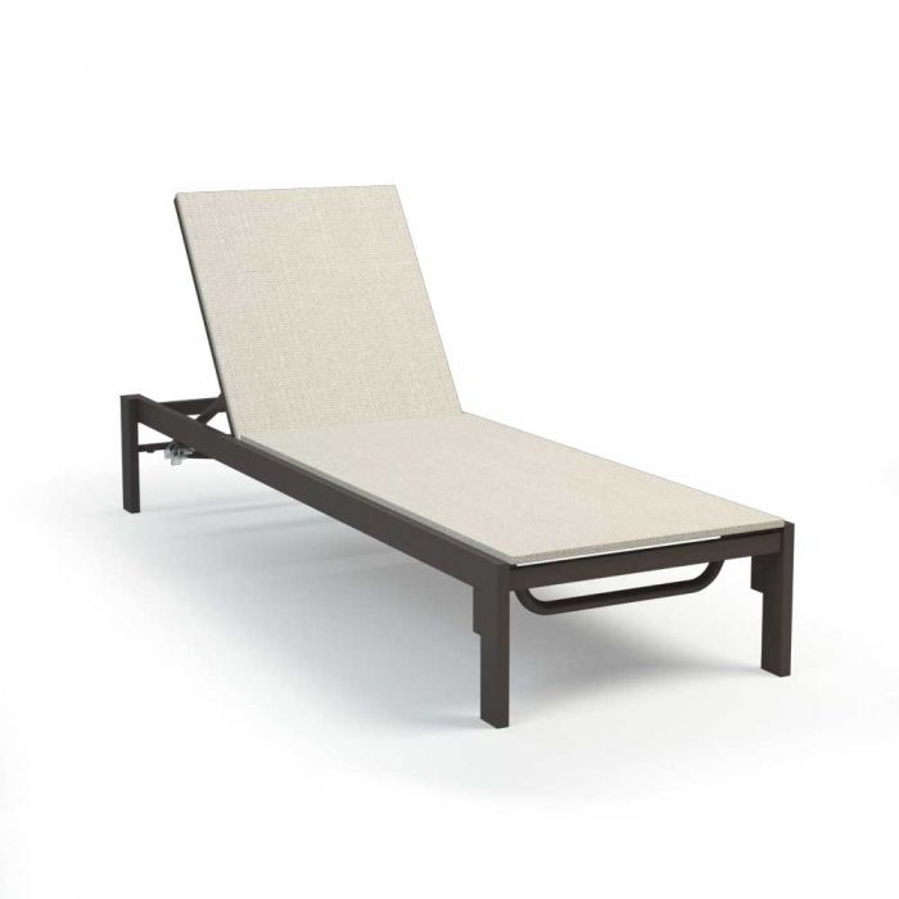 Homecrest Allure Adjustable Aluminum Chaise Lounge, 77x28-Inches