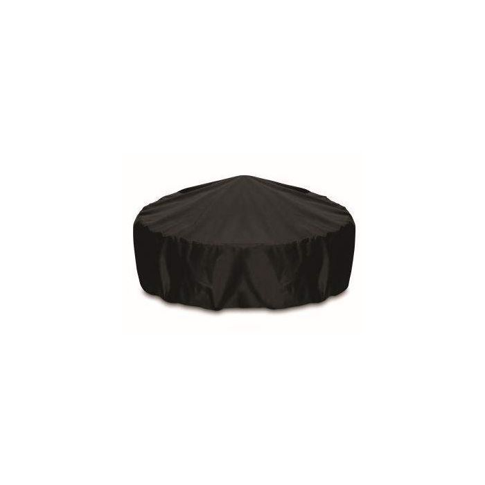 Two Dogs Designs Round 80 Inch Black Fire Pit Cover
